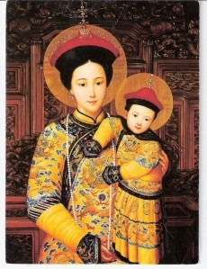 Our Lady of China painting by Chu Kar Kui
