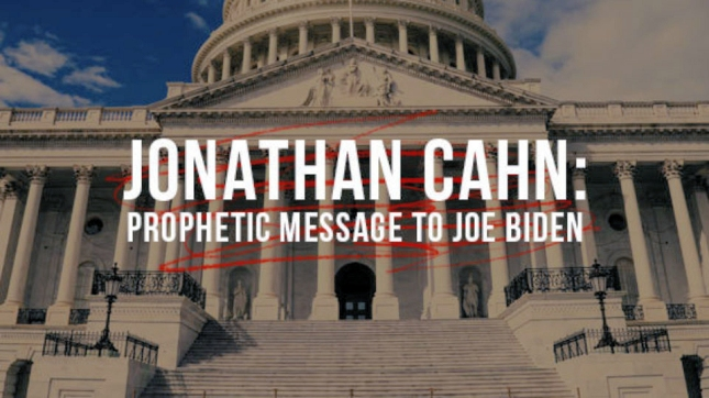 Jonathan Cahn Inaugural Message, 2021